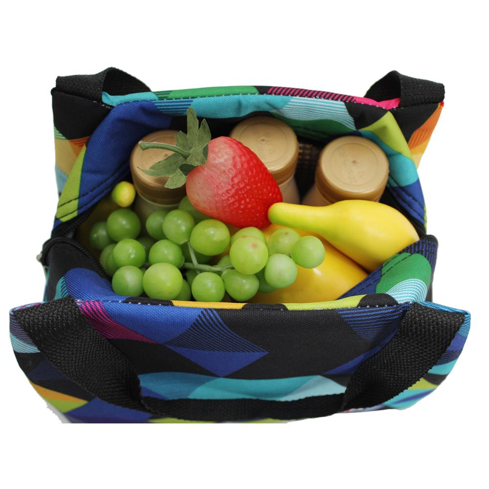 TEAMOOK 4 Patterns Insulated Lunch Bag Large Portable Thermal Food Bags For Women And Kids Picnic Lunch Tote