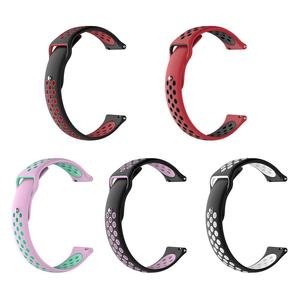 Image 5 - 通気性のシリコーンスポーツバンドの腕時計ストラップリストストラップリストバンド 18 20 ミリメートルゴムストラップバンド Ticwatch ため C2