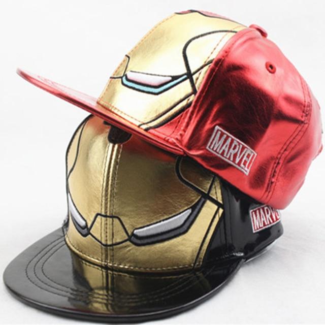 Genbitty 3 Estilo niños y adultos tamaño Ironman vengadores gorras de béisbol  Iron Man personaje de 20875961b80