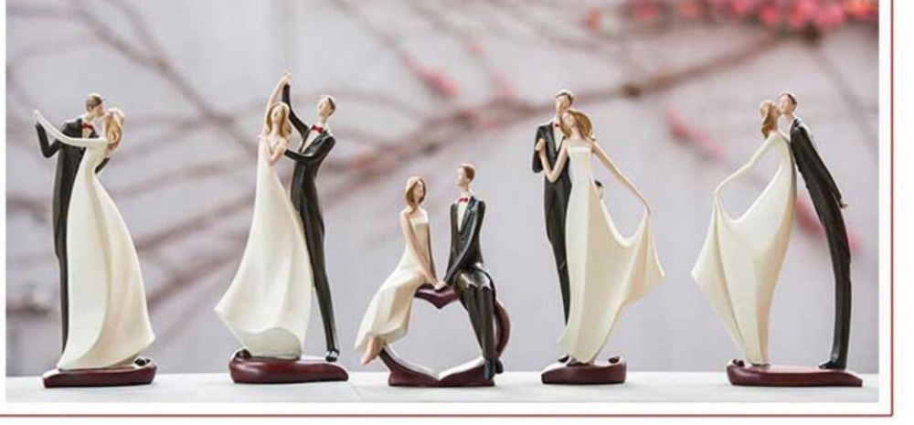 Send boudoir honey to get married gift figure places household sitting room bedroom newly married home decoration Statues