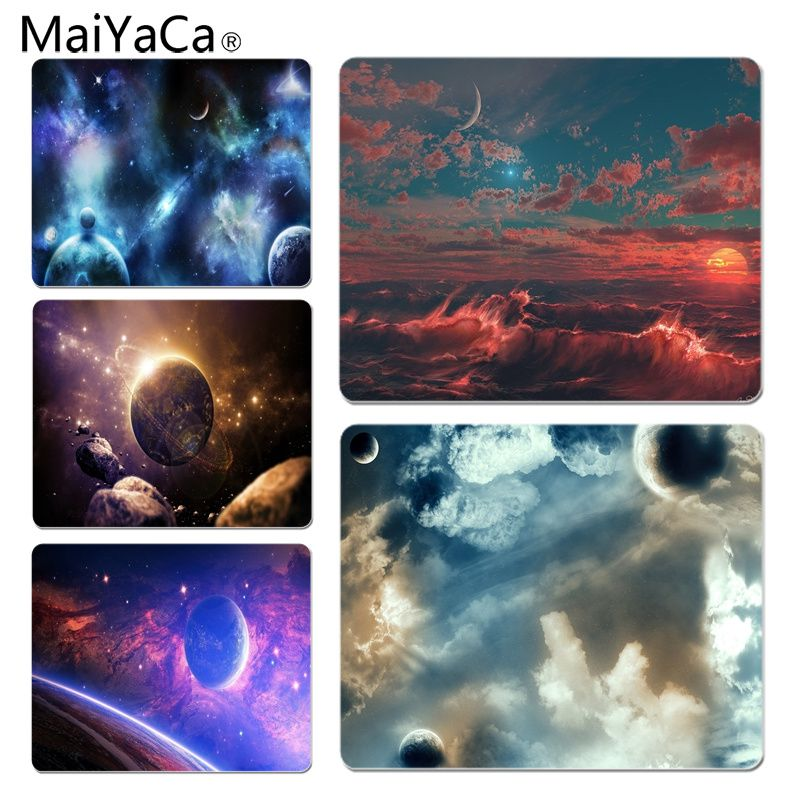 MaiYaCa Personalized Cool Fashion Planets mouse pad gamer play mats Size for 18x22cm 25x29cm Small Mousepad