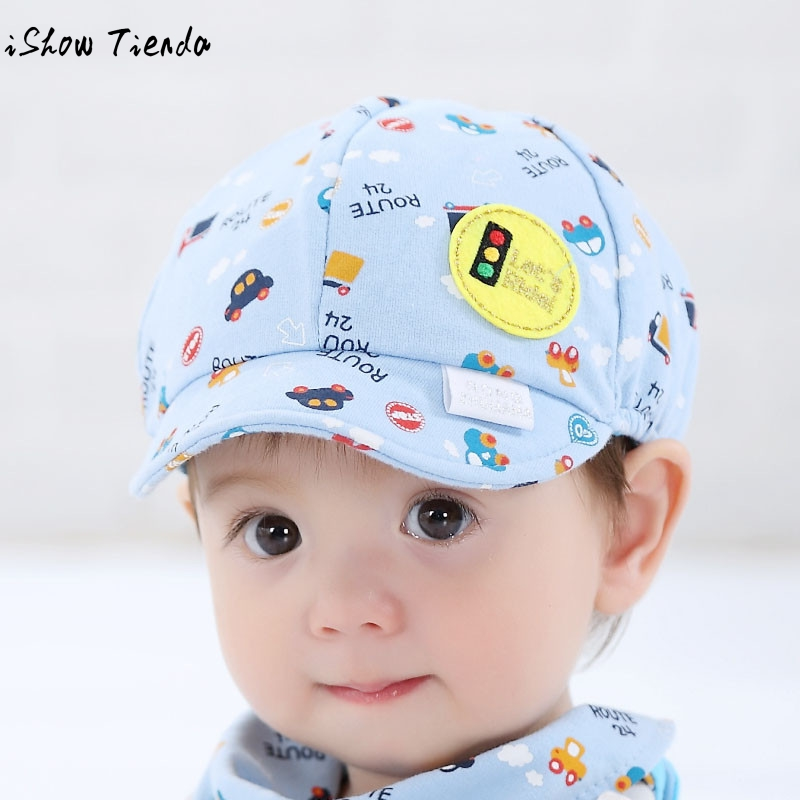 2018 Baby Hat Cute Cartoon Printing Toddler Infant Cap Little Car Baseball Cap Gorro Infantil Photography