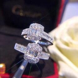 Naturalny diament 18K złota czystego złota pierścień AU750 złoty solidne złote pierścienie ekskluzywny modny klasyczny Party Fine Jewelry gorący sprzedaży (1 sztuka)