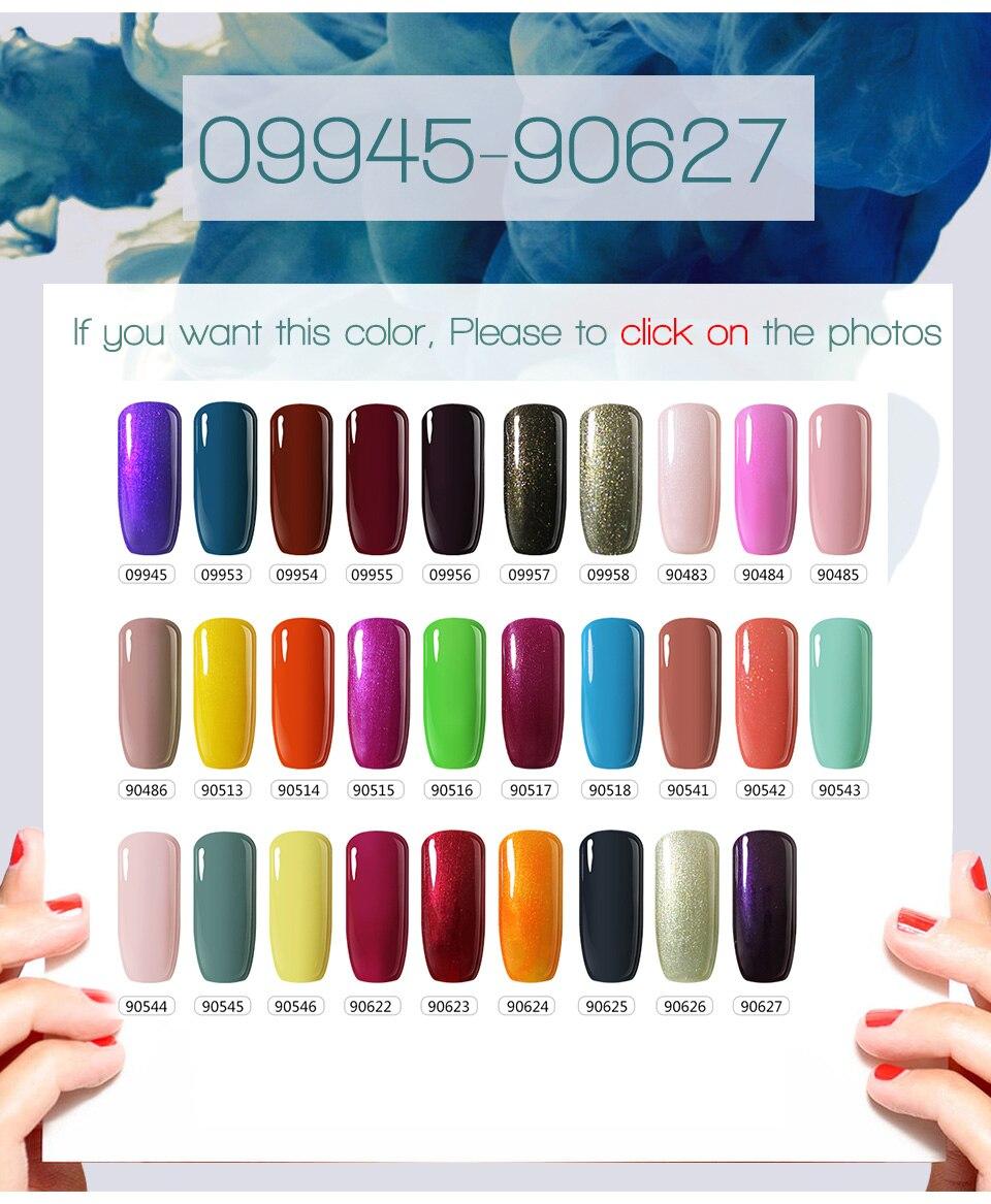 Mix 30 farben UV Gel Polish 10 ml einfarbig Professionelle ...
