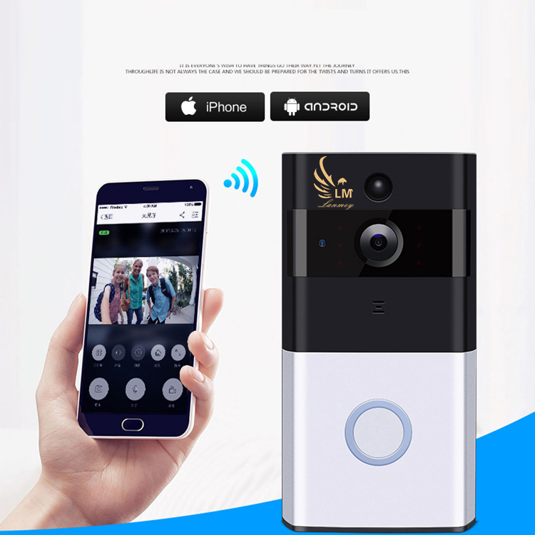 все цены на WI-FI Video Door Phone Door Bell WIFI Doorbell Camera For Apartments Wireless Security Camera онлайн