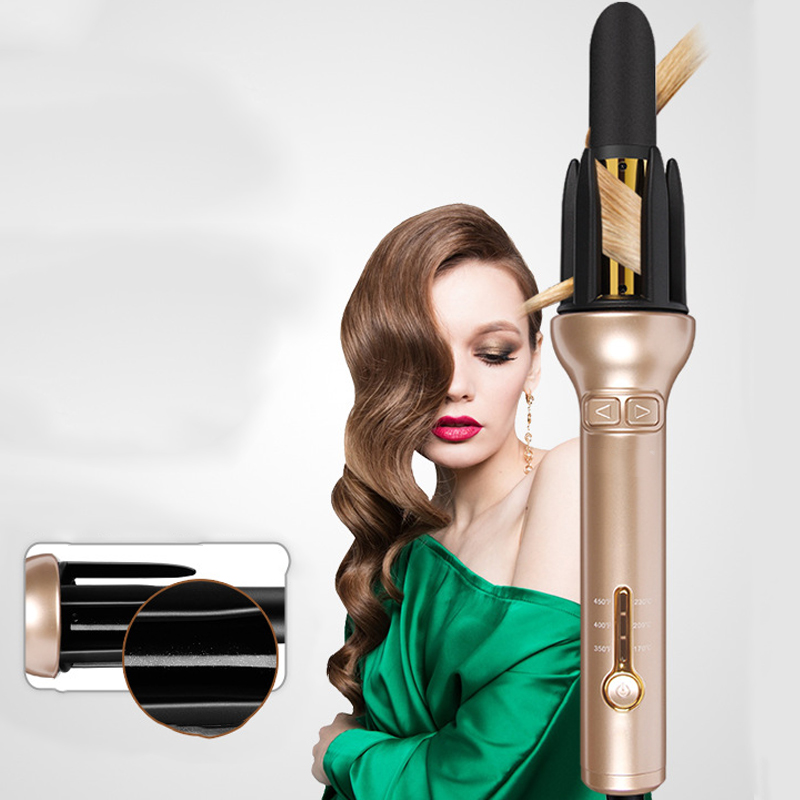 100-240V  Hair Curler Automatic Rotating Ceramic Curling Iron For The Lazy Fast Heating Auto Styling Tools