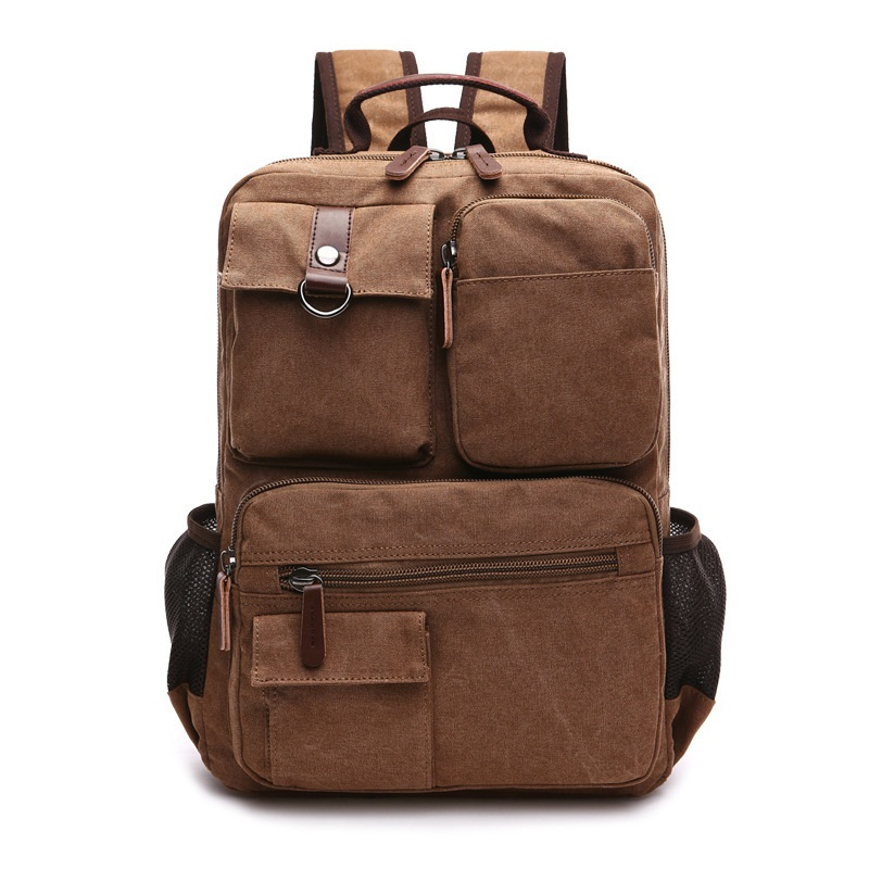 Hot!!! New Arrive Korea Original Z.l.d Canvas Leather Men Travel Bags Duffel Bags Weekend Bag Multi-function Laptop Backpacks B4