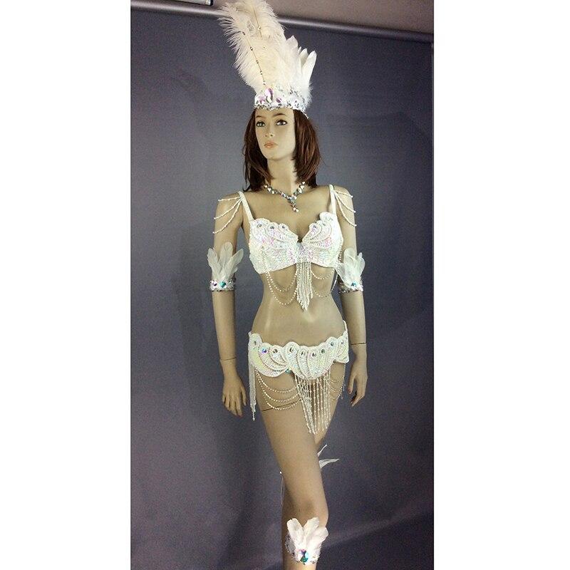 b0e34ed87 Envío libre nuevo diseño de Grado Superior danza del vientre Samba carnivel  Rio cristal sujetador traje showgirl bailarín 7 color