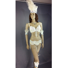 Free shipping new design top grade belly dance Samba Carnivel RIO Crystal Bra Costume Outfit Showgirl dancer costume 7 color