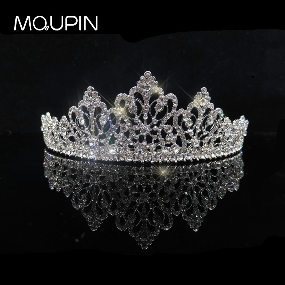 MQUPIN Luxurious Elegant Royal Shiny Crystal Tiaras Princess Queen women Bridal Wedding Hairwear Unique Crowns Jewelry accessory