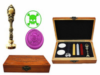 Pirate Vintage Custom Luxury Wax Seal Sealing Stamp Brass Peacock Metal Handle Sticks Melting Spoon Wood