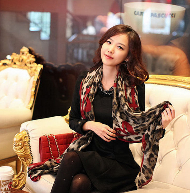 New Women Ladies Leopard Stylish Long Soft Silk Chiffon   Scarf     Wrap   Shawl   Scarves   Hot Item Stylish