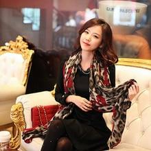 New Women Ladies Leopard Stylish Long Soft Silk Chiffon Scarf Wrap