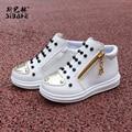 Kids shoes shoes pu del remache de cuero para niños y niñas de la moda de los nuevos niños shoes