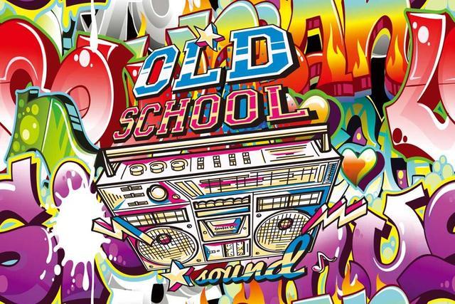 Kidniu Old School Photo Background Vinyl Graffiti Party Music