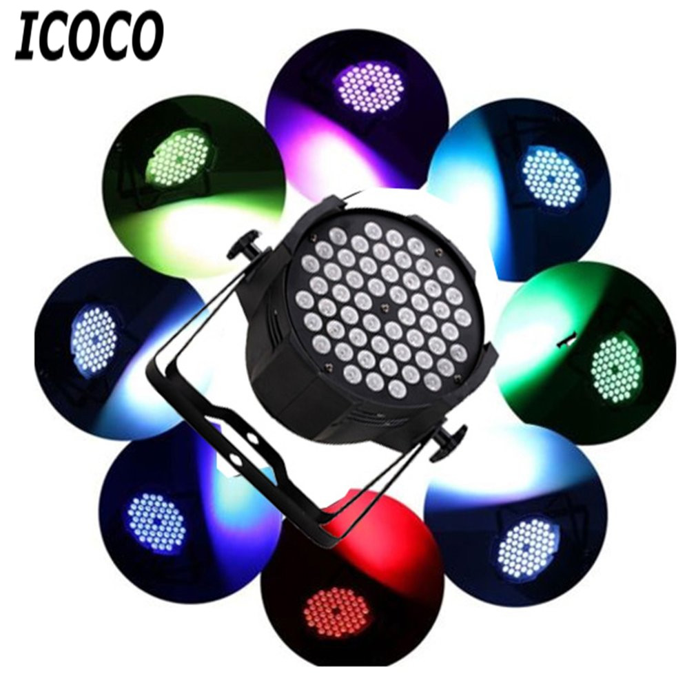 ICOCO 54pcs*1W Cast Aluminum Par Light Disco Stage Club Party KTV Show Indoor LED Light Spotlight Work Light Super Bright Lamp skylarpu 2 6 inch lcd screen for garmin rino 650t 650n gps lcd display screen with touch screen digitizer