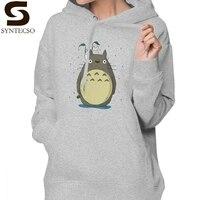 My Neighbor Totoro Hoodie Totoro Hoodies XXL Streetwear Hoodies Women Sweet Long sleeve Graphic Cotton White Pullover Hoodie