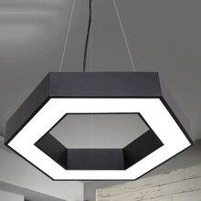 Modern Office pendant light creative LED geometry hang lamp fixture for living room bedroom restaurant dining room suspend lamp