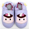 Leather Baby Shoes Girl Baby Moccasins Animal Cartoon Baby Shoes Violet Infant Shoes Boys Slipper Toddler Kids Shoes Footwear
