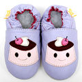 Mocassins de couro Sapatos Da Menina Do Bebê Do Bebê Animal Dos Desenhos Animados Do Bebê Sapatos Violeta Sapatos Chinelo Meninos Criança Crianças Sapatos Calçados Infantis