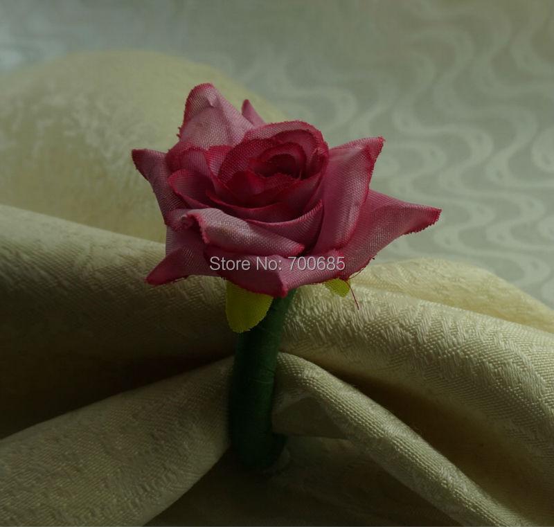 Hand made silk rose flower napkin ring napkin holder in napkin hand made silk rose flower napkin ring napkin holder in napkin rings from home garden on aliexpress alibaba group mightylinksfo
