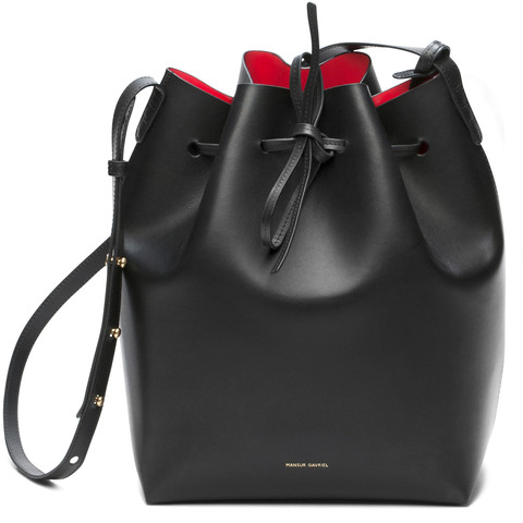 Mansur Gavriel Bucket Bag Women Brand PU Leather String Shoulder Composite Bags