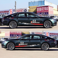 World Datong sport auto stickers for Audi A5 S5 RS5 Door Side Body Decor Sticker Auto Accessories