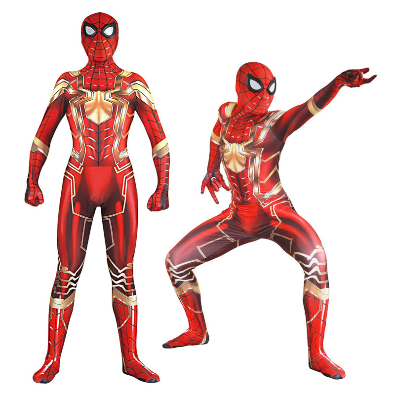 Adult Lycra Speeding Spiderman Zentai Cosplay Costumes for Man Woman Kids Superhero Bodysuit Costume Cosplay