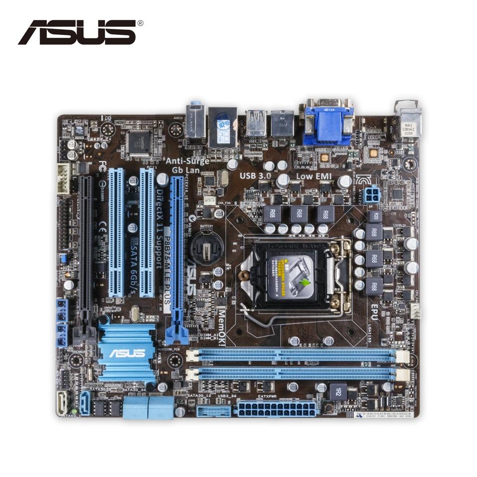 все цены на Asus P8B75-M LE PLUS Desktop Motherboard B75 Socket LGA 1155 i3 i5 i7 DDR3 16G SATA3 USB3.0 uATX Second-hand High Quality