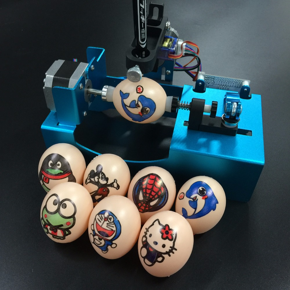 Funssor Easter Day Gift eggbot metal drawing machine Sphereobot edrawbot for drawing on egg and ball