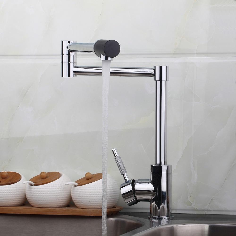New Brass Swivel Chrome Mixer Water Tap Kitchen Sinks Faucet Bathroom Swivel Faucet
