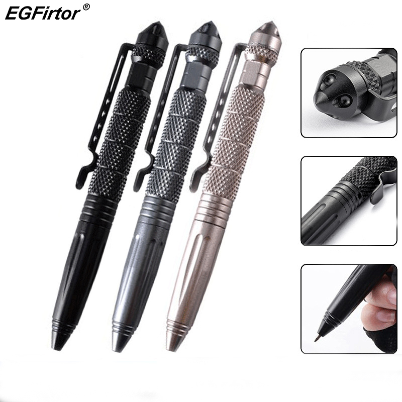 Aluminium Tactical Pen Writing//Self Defense Glass Breaker Survival MultiFuntioin