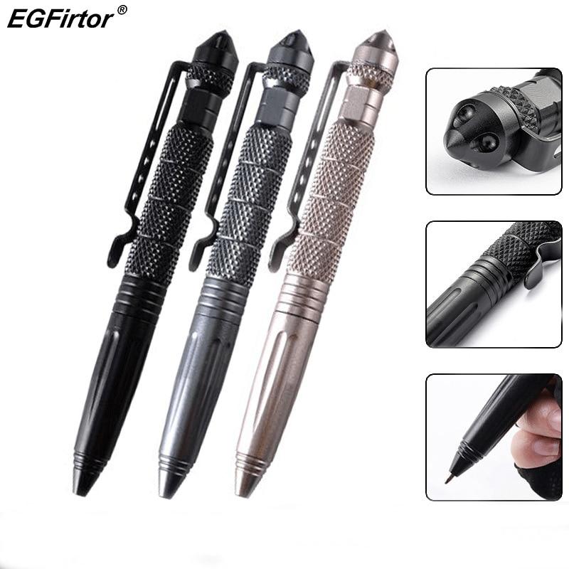 Practical Tactical Pens Aluminum Glass Breaker Self Defense Tactical Pencil Survival Pen Multi-function Camping Tool Writting