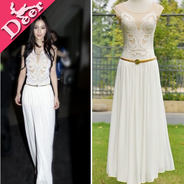 High Quality 2014 Women Formal Dress Vestido Longo Teenage Girls
