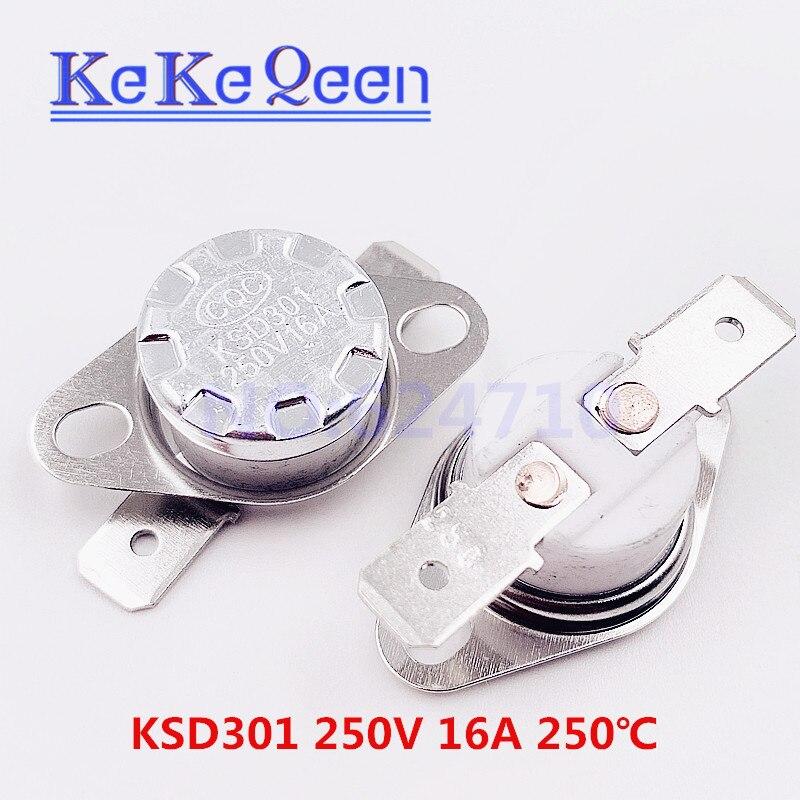KSD301 250V 16A 250 градусов по Цельсию термостат переключатель контроля температуры