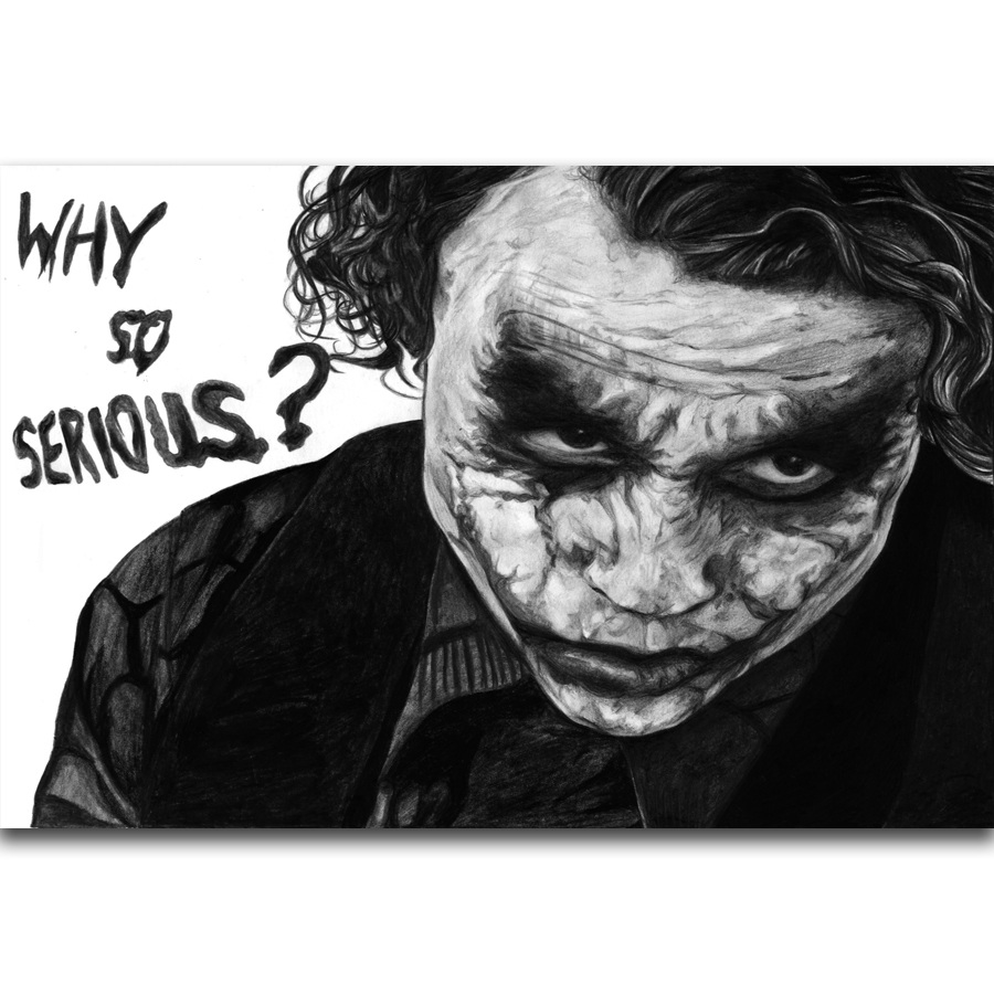 "THE DARK KNIGHT Movie Silk Poster 11/""x17/"" Batman The Joker Why So Serious?"