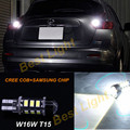 1x branco 6000 k t15 w16w cree chips + samsung led reverso lâmpada de backup para nissan juke 2011-2015