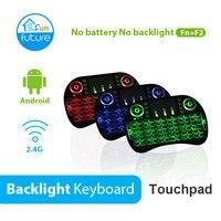 Teclado Inglês Espanhol Russo Teclado Backlight e Preto I8 I8 Touchpad Backlit Teclado Para CAIXA de TV Android Com tx3
