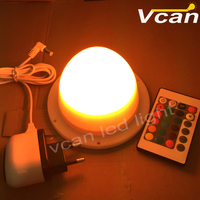 very brighter remote control waterproof rechargeable restaurant table lamp RGB
