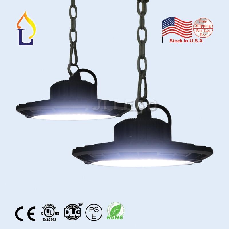 US stock 100W 150W UL DLC LED UFO High Bay Light  LED Industrial Lamp IP67  100-277V 5year warranty 80w ufo led high bay light ip65 high bright led warehouse industrial lighting parking lot lamp ugr
