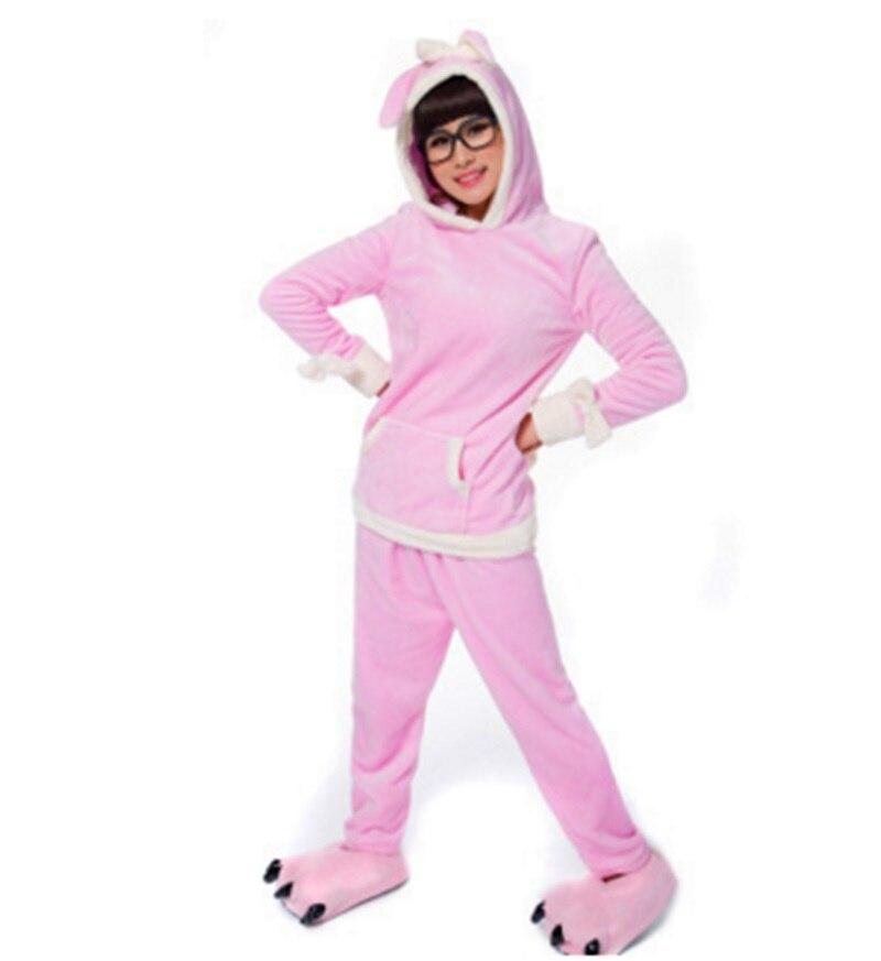 Cute cartoon rabbit leisure animal home pajamas separated coral fleece furniture.