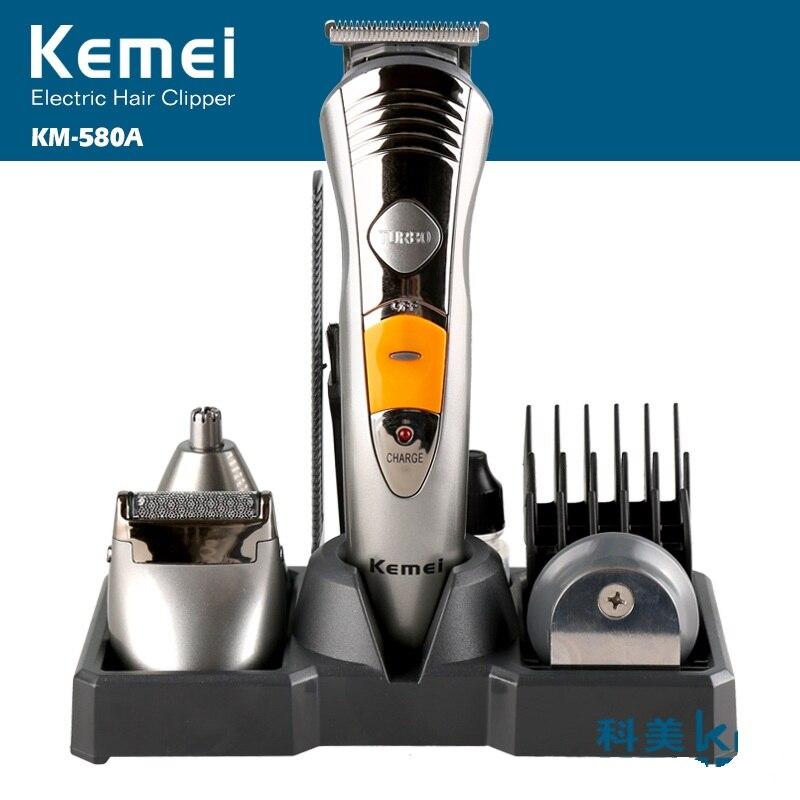 Kemei professionnel 4 en 1 tondeuse à cheveux électrique Rechargeable rasoir rasoir sans fil réglable tondeuse à cheveux KM-580A