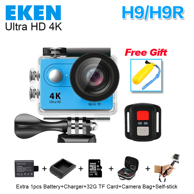2016 New original4K H9/H9R remote Sports camera Ultra HD 4K WiFi 1080P screen 2.0 go waterproof pro gopro hero4 style Action cam