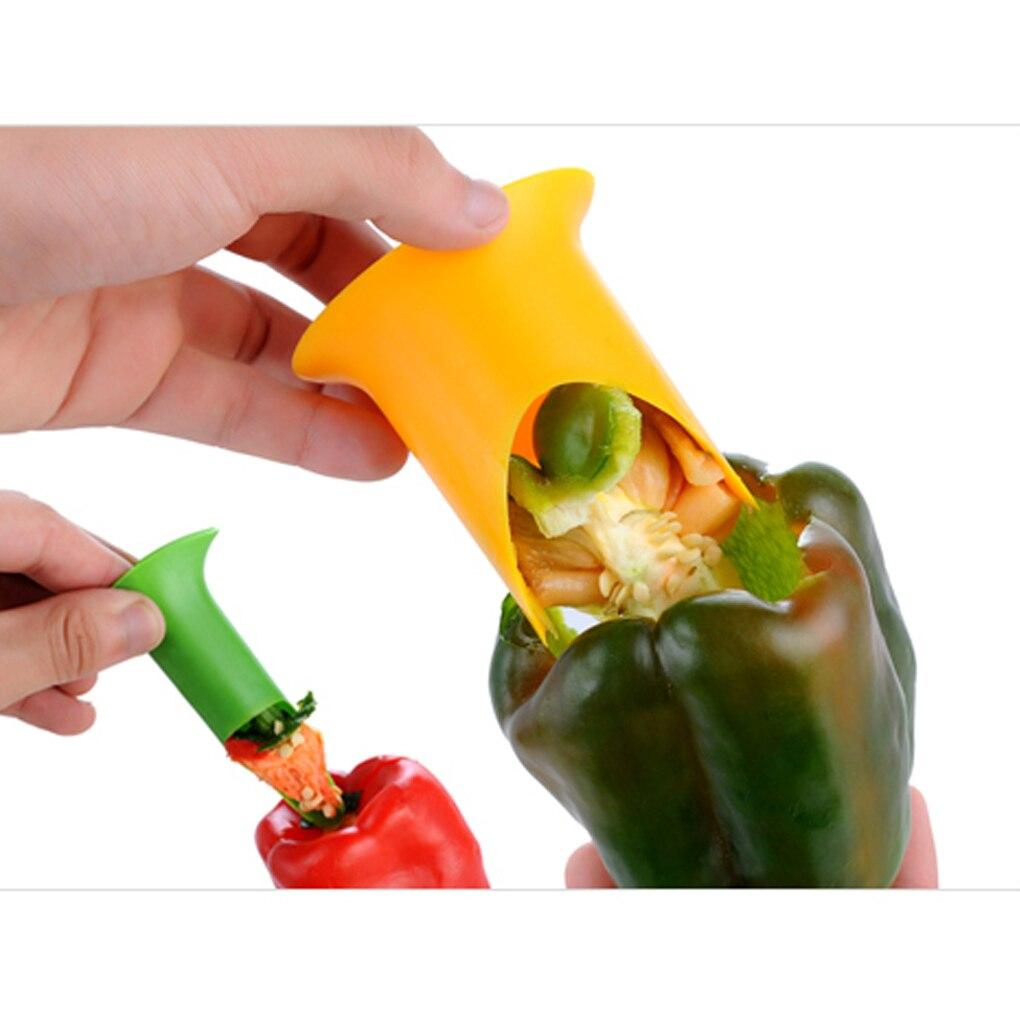 Poivre tomates Paprika légume semoir outil de suppression 2 pièces de couleurs aléatoires 9.6X7X5.5cm outils de cuisine