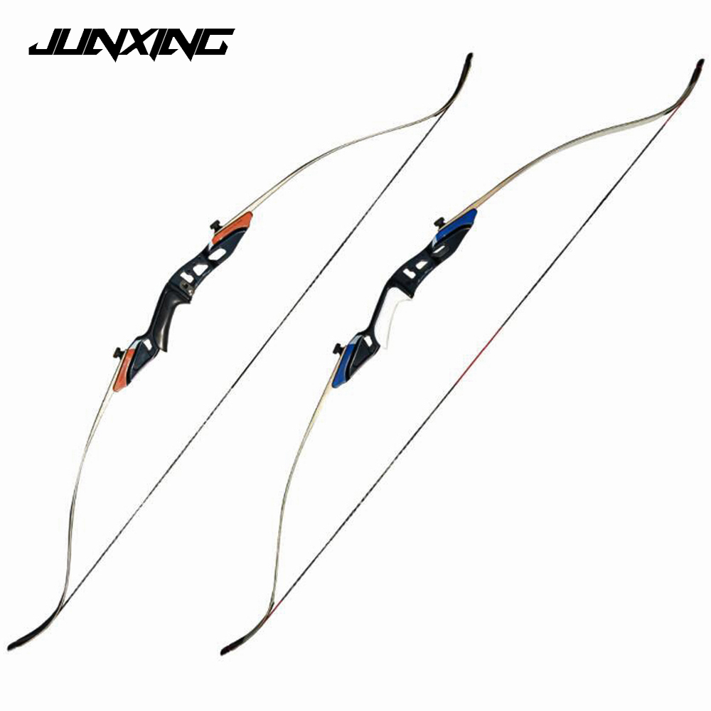 58 American Hunting Recurve Bow 25-50 LBS with High Strength Alloy Riser and Maple Limbs Archery Shooting 3 color 30 50lbs recurve bow 56 american hunting bow archery with 17 inches metal riser tranditional long bow hunting