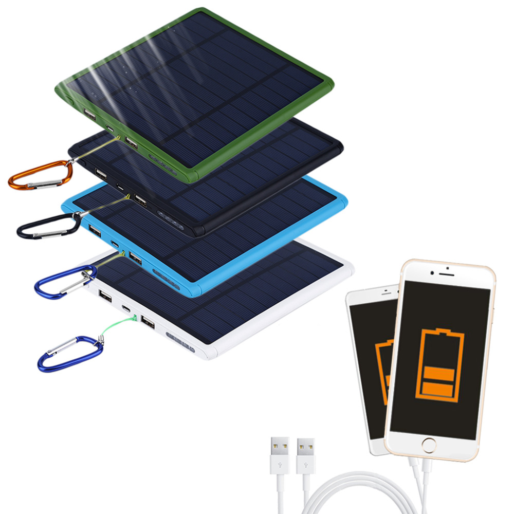 2017 Nuevo 9000 mAh Impermeable doble USB Banco de Energía Del Panel Solar Carga