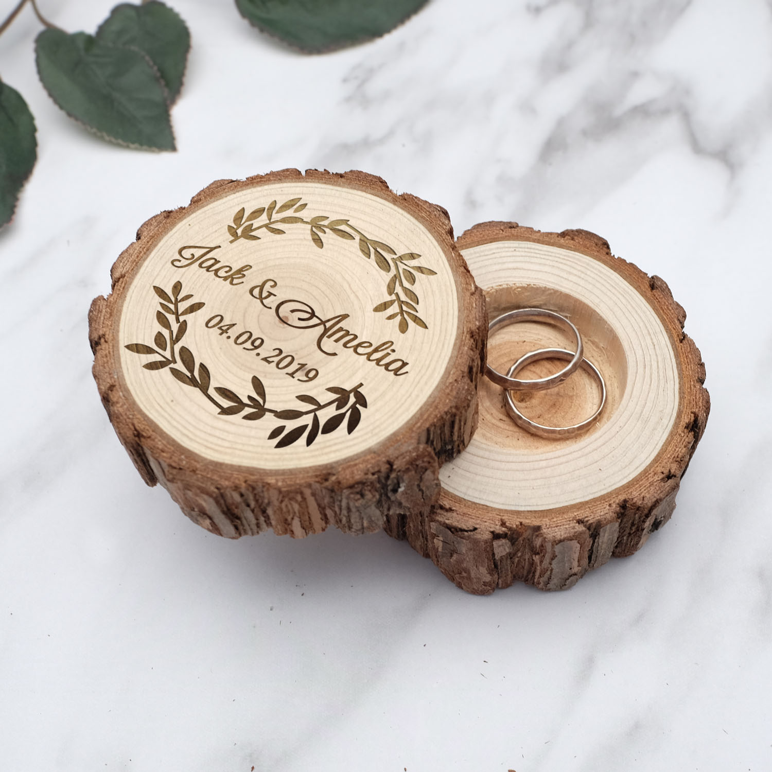 Rustic Wooden Ring Box,Custom Wedding Ring Bearer Box,Engraved Wedding Ring Holder,Jewerly Box,Persoalized Keepsake