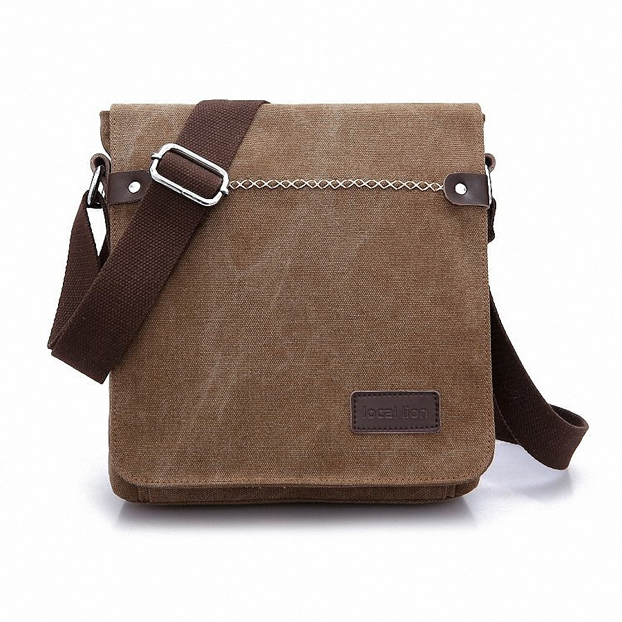 Men s durable canvas messenger bags shoulder bags handbags leisure work travel outing business for 9