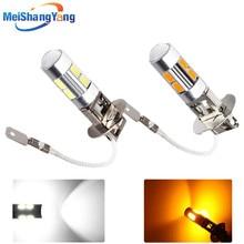 цена на 2pcs H3 10 led car light Fog led high power lamp 5630 smd Auto car led bulbs Car Light Source parking 12V 6000K Headlight