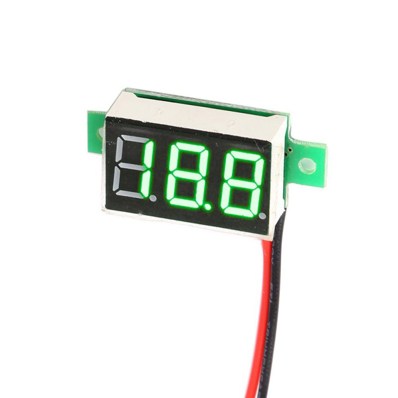 Mini DC 4.5-30V 1pc LCD digital voltmeter ammeter voltimetro Red LED Amp amperimetro Volt Meter Gauge voltage meter DC  цены